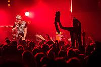 Die Hip-Hop-Gruppe Antilopen Gang aus Duesseldorf, Koeln und Berlin spielte am Samstag den 14. Maerz 2015 im ausverkauften Berliner Club SO36.<br /> Die Band besteht aus den Rappern Koljah Kolerikah (im Bild), Panik Panzer und Danger Dan und steht beim Toten Hosen-Label JKP unter Vertrag.<br /> 14.3.2015, Berlin<br /> Copyright: Christian-Ditsch.de<br /> [Inhaltsveraendernde Manipulation des Fotos nur nach ausdruecklicher Genehmigung des Fotografen. Vereinbarungen ueber Abtretung von Persoenlichkeitsrechten/Model Release der abgebildeten Person/Personen liegen nicht vor. NO MODEL RELEASE! Nur fuer Redaktionelle Zwecke. Don't publish without copyright Christian-Ditsch.de, Veroeffentlichung nur mit Fotografennennung, sowie gegen Honorar, MwSt. und Beleg. Konto: I N G - D i B a, IBAN DE58500105175400192269, BIC INGDDEFFXXX, Kontakt: post@christian-ditsch.de<br /> Bei der Bearbeitung der Dateiinformationen darf die Urheberkennzeichnung in den EXIF- und  IPTC-Daten nicht entfernt werden, diese sind in digitalen Medien nach &sect;95c UrhG rechtlich geschuetzt. Der Urhebervermerk wird gemaess &sect;13 UrhG verlangt.]