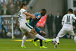 04.11.2018, Stadion im Borussia-Park, Moenchengladbach, GER, 1. FBL, Borussia Moenchengladbach vs. Fortuna Duesseldorf, DFL regulations prohibit any use of photographs as image sequences and/or quasi-video<br /> <br /> im Bild v. li. im Zweikampf Florian Neuhaus (#32, Borussia M?nchengladbach / Moenchengladbach) Dodi Lukebakio (#20, Fortuna D&uuml;sseldorf / Duesseldorf) <br /> <br /> Foto &copy; nordphoto/Mauelshagen