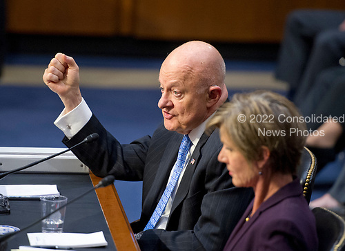 Former Director of National Intelligence of the United States James R. Clapper gives testimony before the US Senate Committee on the Judiciary Subcommittee on Crime and Terrorism hearing titled &ldquo;Russian Interference in the 2016 United States Election&rdquo; on Capitol Hill in Washington, DC on Monday, May 8, 2017.<br /> Credit: Ron Sachs / CNP<br /> (RESTRICTION: NO New York or New Jersey Newspapers or newspapers within a 75 mile radius of New York City)
