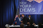 (L-r) Congressman Charles Rangel, Senator Chuck Schumer, and New York Governor David Paterson at a breakfast for New York delegates at the start of the Democratic National Convention at the Sheraton Hotel in Denver, Colorado on August 25, 2008.
