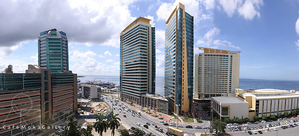 Panoramic of Port of Spain new dockside development