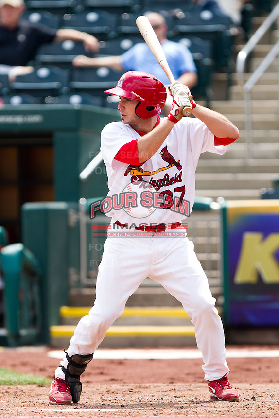 Charles Cutler (37) of the Springfield Cardinals at bat during a game against the Midland RockHounds on April 19, 2011 at Hammons Field in Springfield, Missouri.  Photo By David Welker/Four Seam Images
