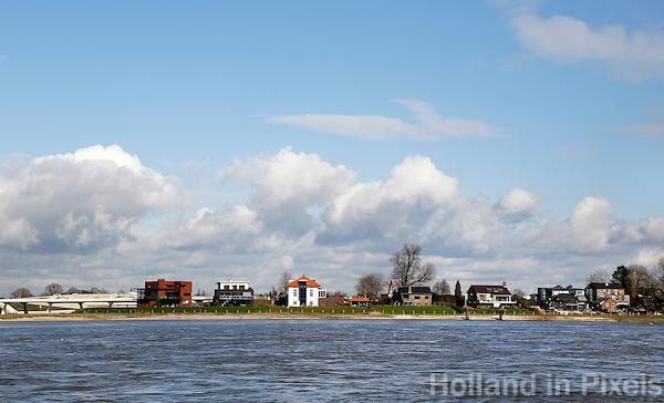 Nederland Nijmegen 2016. Eiland in de Waal : Veur-Lent.  Foto Berlinda van Dam / Hollandse Hoogte