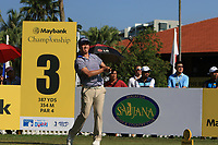Sihwan Kim (USA) on the 3rd tee during Round 1 of the Maybank Championship at the Saujana Golf and Country Club in Kuala Lumpur on Thursday 1st February 2018.<br /> Picture:  Thos Caffrey / www.golffile.ie<br /> <br /> All photo usage must carry mandatory copyright credit (© Golffile | Thos Caffrey)