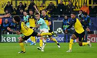 Football, UEFA Champions League, Men, Season 2019 2020, Group F, 4 Matchday, Signal Iduna Park Dortmund, Bor Dortmund yellow Inter Milan blue Axel Witsel BVB , Lautaro Martinez INT , Julian Weigl BVB , Manuel Akanji BVB Action UEFA REGULATIONS PROHIBIT ANY USE OF PHOTOGRAPHS AS IMAGE SEQUENCES AND OR QUASI VIDEO <br /> Dortmund 5-11-2019 BVB Stadion <br /> Football Uefa Champions League 2019/2020 Group F Borussia Dortmund - FC Internazionale <br /> Photo Imago/Insidefoto