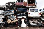 042010 Trash The Dress, U Pull It Salvage Yard, DeLand w/ Jess