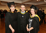 20/1/2015   (with compliments)  Attending the University of Limerick conferrings on Tuesday afternoon were Aisleen Higgins, Letteragh road, Galway, Liam Cannon, Ardrahan and Elaine Dobell, Claregalway all three conferred with an MSc in Health Informatics.<br /> Picture Liam Burke/Press 22