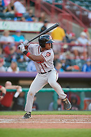 Richmond Flying Squirrels Jalen Miller (1) at bat during an Eastern League game against the Erie SeaWolves on August 28, 2019 at UPMC Park in Erie, Pennsylvania.  Richmond defeated Erie 6-4 in the first game of a doubleheader.  (Mike Janes/Four Seam Images)