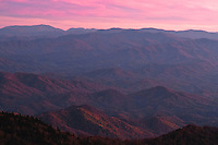 Autumn sunset, as viewed from Clingmans Dome