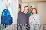 Enjoying 'Effigy' the first solo art exhibition by Evelyn Murphy in The Glorach Theatre, Abbeyfeale on Saturday were L-R: Liam Flynn, who officially opened the exhibition and Evelyn Murphy, Abbeyfeale.