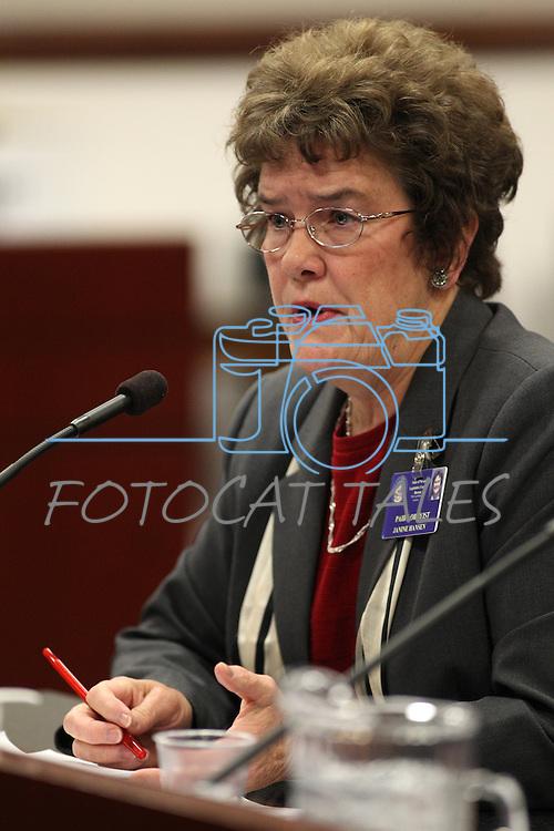 Lobbyist Janine Hansen testifies at the Legislature in Carson City, Nev. on Wednesday, March 9, 2011..Photo by Cathleen Allison