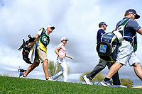 Cameron Smith (AUS) and Matt Kucher (USA) walking off the 9th tee during the 3rd round of the Waste Management Phoenix Open, TPC Scottsdale, Scottsdale, Arisona, USA. 02/02/2019.<br /> Picture Fran Caffrey / Golffile.ie<br /> <br /> All photo usage must carry mandatory copyright credit (&copy; Golffile | Fran Caffrey)