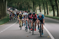 Timothy Dupont (BEL/Veranda's Willems-Crelan) leading the peloton<br /> <br /> 77th Euro Metropole Tour 2017<br /> La Louvi&egrave;re &gt; Tournai (BEL): 188.6 km