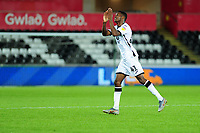 Jordon Garrick of Swansea City during the Carabao Cup Second Round match between Swansea City and Cambridge United at the Liberty Stadium in Swansea, Wales, UK. Wednesday 28, August 2019.