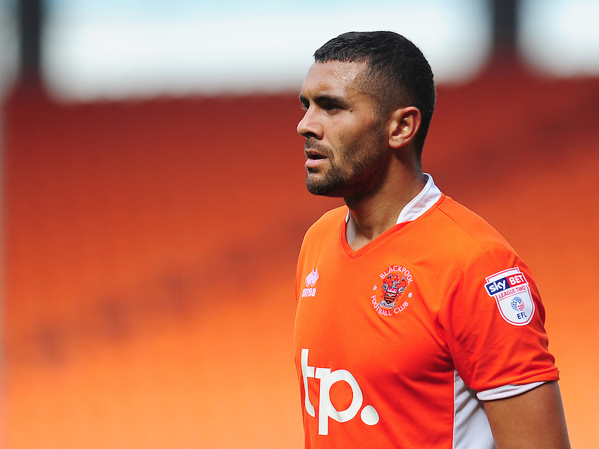 Blackpool's Colin Daniel<br /> <br /> Photographer Kevin Barnes/CameraSport<br /> <br /> Football - The EFL Sky Bet League Two - Blackpool v Exeter City - Saturday 6th August 2016 - Bloomfield Road - Blackpool<br /> <br /> World Copyright &copy; 2016 CameraSport. All rights reserved. 43 Linden Ave. Countesthorpe. Leicester. England. LE8 5PG - Tel: +44 (0) 116 277 4147 - admin@camerasport.com - www.camerasport.com