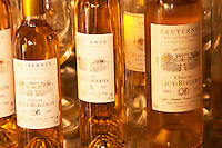 A collection of bottles of different sizes 2000 and 2001 - Chateau Haut Bergeron, Sauternes, Bordeaux