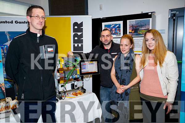Sean Og Walsh and Daniel McEnery Leibherr with Christine and Selina Switzer at the Careers Fair at Tralee IT on Wednesday.