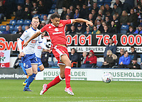 Milton Keynes Dons' Osman Sow scores the opening goal <br /> <br /> Photographer Juel Miah/CameraSport<br /> <br /> The EFL Sky Bet League One - Bury v Milton Keynes Dons - Saturday 30th September 2017 - Gigg Lane - Bury<br /> <br /> World Copyright &copy; 2017 CameraSport. All rights reserved. 43 Linden Ave. Countesthorpe. Leicester. England. LE8 5PG - Tel: +44 (0) 116 277 4147 - admin@camerasport.com - www.camerasport.com