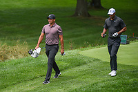 Jason Day (AUS) and Tiger Woods (USA) head down 2 during 2nd round of the World Golf Championships - Bridgestone Invitational, at the Firestone Country Club, Akron, Ohio. 8/3/2018.<br /> Picture: Golffile | Ken Murray<br /> <br /> <br /> All photo usage must carry mandatory copyright credit (© Golffile | Ken Murray)