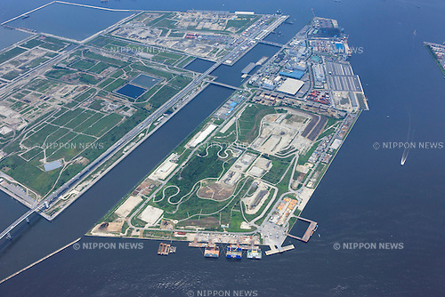 Sea forest cross-country course: Tokyo, Japan: Aerial view of proposed venue for the 2020 Summer Olympic Games. (Photo by AFLO)