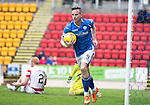 St Johnstone v Hamilton Accies...12.09.15  SPFL McDiarmid Park, Perth<br /> Steven MacLean celebrates his second goal<br /> Picture by Graeme Hart.<br /> Copyright Perthshire Picture Agency<br /> Tel: 01738 623350  Mobile: 07990 594431