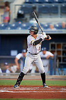 Bradenton Marauders third baseman Brett Pope (2) at bat during a game against the Charlotte Stone Crabs on August 6, 2018 at Charlotte Sports Park in Port Charlotte, Florida.  Charlotte defeated Bradenton 2-1.  (Mike Janes/Four Seam Images)