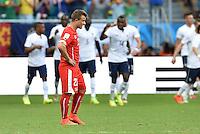 FUSSBALL WM 2014  VORRUNDE    GRUPPE E     Schweiz - Frankreich                   20.06.2014 Xherdan Shaqiri (Schweiz) ist enttaeuscht