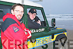 CHRISTMAS SWIM: Mark Enright with Jonathan O'Mahoney members of the Ballybunion Sea and Cliff Rescue who are hoping that the Christmas Day swim will cash in for the vital service and help them buy a much needed EUR150K rescue boat in 2009.   Copyright Kerry's Eye 2008