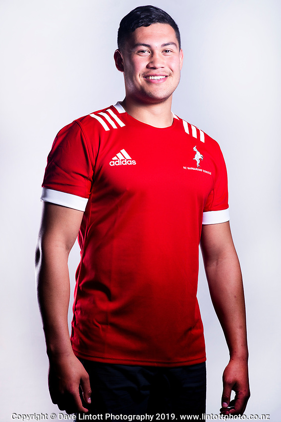 Taya Brown (Nelson College).. 2019 New Zealand Schools Barbarians rugby union headshots at the Sport & Rugby Institute in Palmerston North, New Zealand on Wednesday, 25 September 2019. Photo: Dave Lintott / lintottphoto.co.nz
