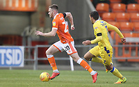 Blackpool's Ollie Turton in action with Bristol Rovers' Liam Sercombe<br /> <br /> Photographer Mick Walker/CameraSport<br /> <br /> The EFL Sky Bet League One - Blackpool v Bristol Rovers - Saturday 3rd November 2018 - Bloomfield Road - Blackpool<br /> <br /> World Copyright &copy; 2018 CameraSport. All rights reserved. 43 Linden Ave. Countesthorpe. Leicester. England. LE8 5PG - Tel: +44 (0) 116 277 4147 - admin@camerasport.com - www.camerasport.com