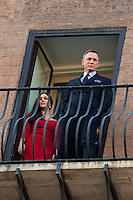 Monica Bellucci e Daniel Craig<br /> Roma 18-02-2015 Campidoglio. In occasione del'inizio delle riprese del nuovo 007 a Roma, visita dei due attori al Campidoglio.<br /> Due to the new dil of James Bond, 007, that will be set in Rome, actors Daniel Craig and Monica Bellucci visit the Campidoglio<br /> Photo Samantha Zucchi Insidefoto