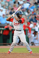 Lowell Spinners outfielder Manuel Margot (2) during a game against the Tri-City ValleyCats on July 6, 2013 at Joseph L. Bruno Stadium in Troy, New York.  Lowell defeated Tri-City 4-3.  (Mike Janes/Four Seam Images)