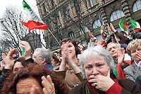 'C-Day', iniziativa in difesa della Costituzione. Milano, 12 marzo 2011...'C-Day, political initiative to defence Italian Constitution. Milan, March 12, 2011