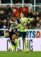 9th November 2019; St James Park, Newcastle, Tyne and Wear, England; English Premier League Football, Newcastle United versus AFC Bournemouth; Isaac Hayden of Newcastle United gets past a challenge from Harry Wilson of AFC Bournemouth - Strictly Editorial Use Only. No use with unauthorized audio, video, data, fixture lists, club/league logos or 'live' services. Online in-match use limited to 120 images, no video emulation. No use in betting, games or single club/league/player publications