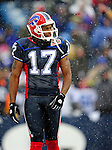 3 January 2010: Buffalo Bills' wide receiver Justin Jenkins leaves the field during a game against the Indianapolis Colts on a cold, snowy, final game of the season at Ralph Wilson Stadium in Orchard Park, New York. The Bills defeated the Colts 30-7. Mandatory Credit: Ed Wolfstein Photo