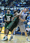 January 20, 2016 - Colorado Springs, Colorado, U.S. -  Air Force center, Zach Moer #41, struggles for position in the lane during an NCAA basketball game between the Colorado State University Rams and the Air Force Academy Falcons at Clune Arena, United States Air Force Academy, Colorado Springs, Colorado.  Colorado State defeats Air Force 83-79.