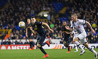 Stephan El Shaarawy of Monaco & Toby Alderweireld of Tottenham Hotspur chases down the ball during the UEFA Europa League group match between Tottenham Hotspur and Monaco at White Hart Lane, London, England on 10 December 2015. Photo by Andy Rowland.