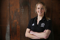 10.06.2014 Silver Fern Shannon Francois at the New Zealand Silver Ferns netball team annoucement in Auckland for the 2014 Glasgow Commonwealth Games to be held next month. Mandatory Photo Credit ©Michael Bradley.