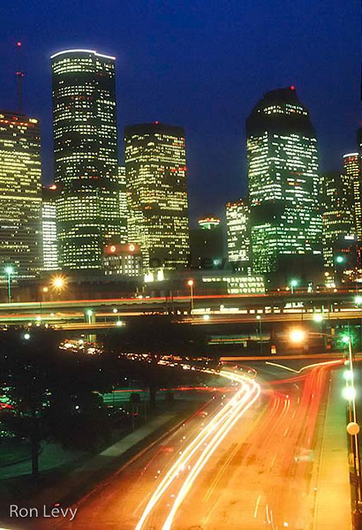 City night skyline, Houston, TX