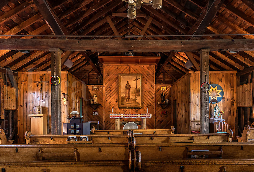 National Shrine of Saint Kateri Tekakwitha in Fonda, New York, USA. Kateri  was the first Native American saint. Kateri Tekakwitha in Fonda, New York, USA.