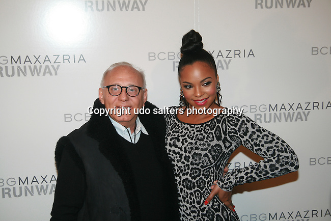 Designer Max Azria and Recording Artist Ashanti attend Mercedes-Benz Fashion Week Fall 2011: BCBGMaxAzria Backstage at The Theatre at Lincoln Center, New York 2/10/11