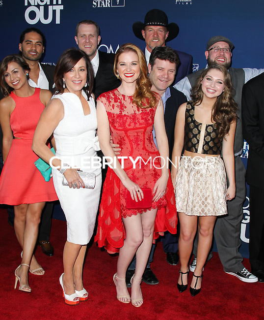 "HOLLYWOOD, LOS ANGELES, CA, USA - APRIL 29: Mom's Night Out Cast at the Los Angeles Premiere Of TriStar Pictures' ""Mom's Night Out"" held at the TCL Chinese Theatre IMAX on April 29, 2014 in Hollywood, Los Angeles, California, United States. (Photo by Xavier Collin/Celebrity Monitor)"