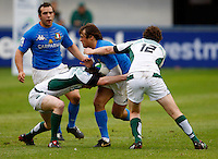 Photo: Richard Lane/Richard Lane Photography. Ireland U20 v Italy U20. Semi Final. 18/06/2008. Italy's Alberto Chiesa attacks.