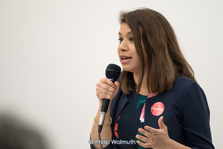 Tulip Siddiq MP.  Camden Labour Party manifesto launch for the May local government elections.