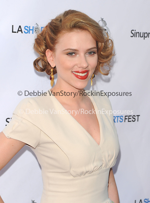 "Scarlett Johansson Reynolds at The Opening Night  LA SHORTS FEST '09.featuring Scarlett Johansson's directorial debut: THESE VAGABOND""S SHOES World Premiere & Courteney Cox's directorial debut: THE MONDAY BEFORE THANKSGIVING held at The Laemmle's Sunset 5 Theatre in West Hollywood, California on July 23,2009                                                                   Copyright 2009 DVS / RockinExposures"