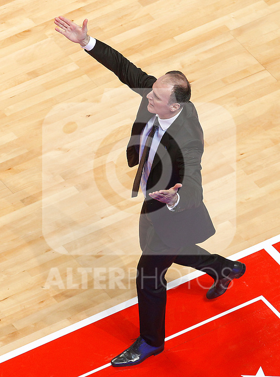Caja Laboral's coach Dusko Ivanovic during Spanish Basketball King's Cup match.February 11,2011. (ALTERPHOTOS/Acero)