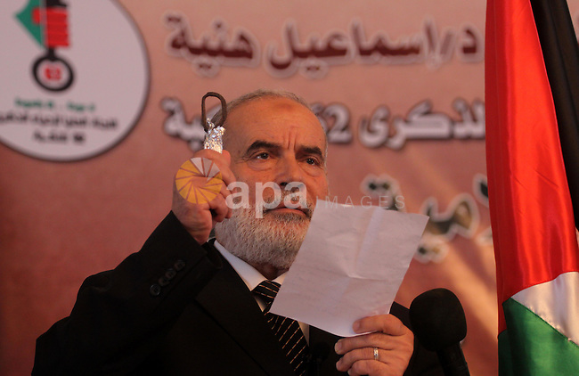 The spokesman of the Palestinian Parliament, Ahmed Bahr attend a conference in the 62nd anniversary of Nakba(catastrophe) in Gaza City on May 8, 2010. Photo by Mohammed Asad
