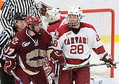 Brian Gibbons (BC - 17), Chris Huxley (Harvard - 28) - The Boston College Eagles defeated the Harvard University Crimson 3-2 on Wednesday, December 9, 2009, at Bright Hockey Center in Cambridge, Massachusetts.