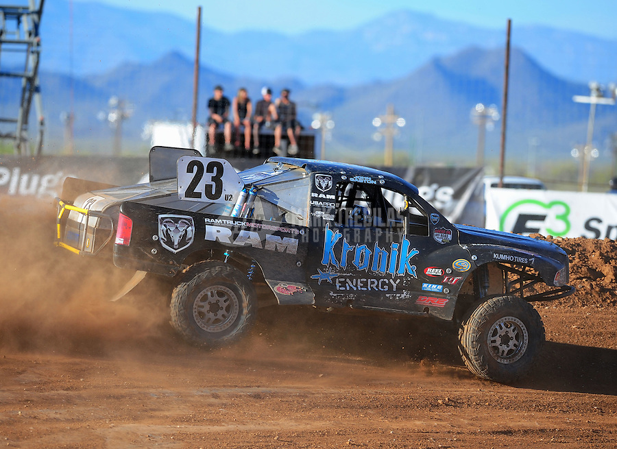 Apr 16, 2011; Surprise, AZ USA; LOORRS driver John Gaston (23) during round 3 at Speedworld Off Road Park. Mandatory Credit: Mark J. Rebilas-