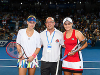 ASHLEIGH BARTY and ANGELIQUE KERBER <br /> <br /> 2017 BRISBANE INTERNATIONAL, PAT RAFTER ARENA, BRISBANE TENNIS CENTRE, BRISBANE, QUEENSLAND, AUSTRALIA<br /> <br /> &copy; TENNIS PHOTO NETWORK